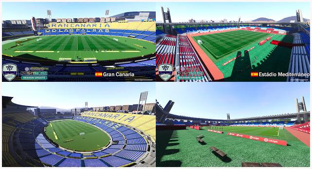 Stadiums Gran Canaria & Estádio Mediterráneo For eFootball PES 2021