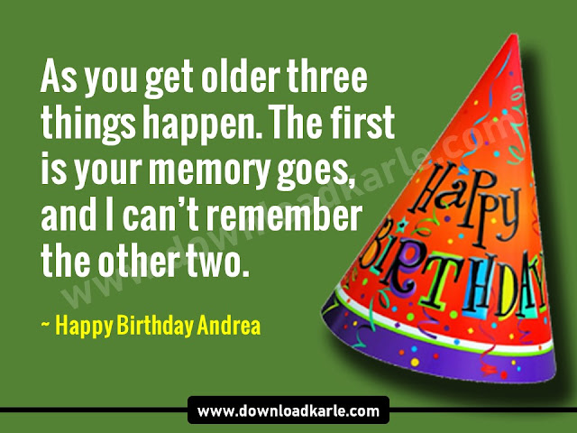 Happy Birthday Andrea Images, Memes & Cake