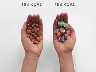 Blogueira Fitness faz uma comparação de alimentos saudáveis x não saudáveis
