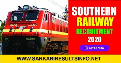 Southern Railway Recruitment 2020: Southern Railway is officially out of recruitment notice