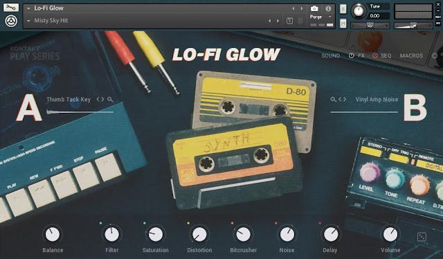 Interface da Library Native Instruments - Lo-Fi Glow (KONTAKT)