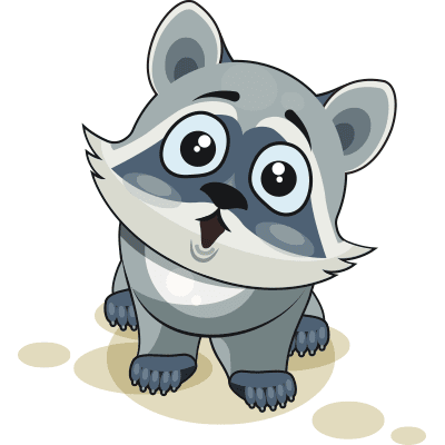 Cute Raccoon Sticker