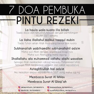 7 Doa Pembuka Pintu Rezeki