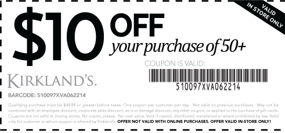 photo regarding Rue 21 Printable Coupons known as Kirklands coupon code 2018 : Haberdash chicago coupon