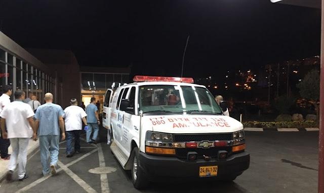 Heridos del accidente en el Golan llegan al hospital Ziv [El Hospital Ziv en Tzfat]