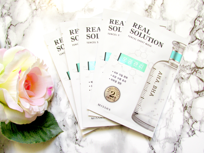 Review: Missha Real Solution Tencel Sheet Maske - Pore Control AHA/BHA
