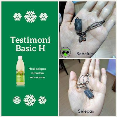 Testimoni Basic H: Kotoran Degil Rantai Hilang Dengan Basic H