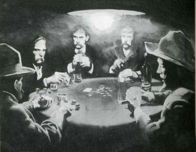 Wild West Poker Game