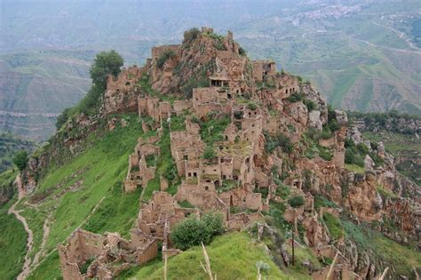 Abandoned ancient village in the mountains of Dagestan