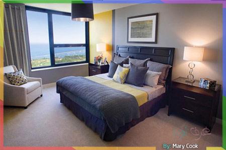 الرمادي الداكن في الغرفة مع الأصفر