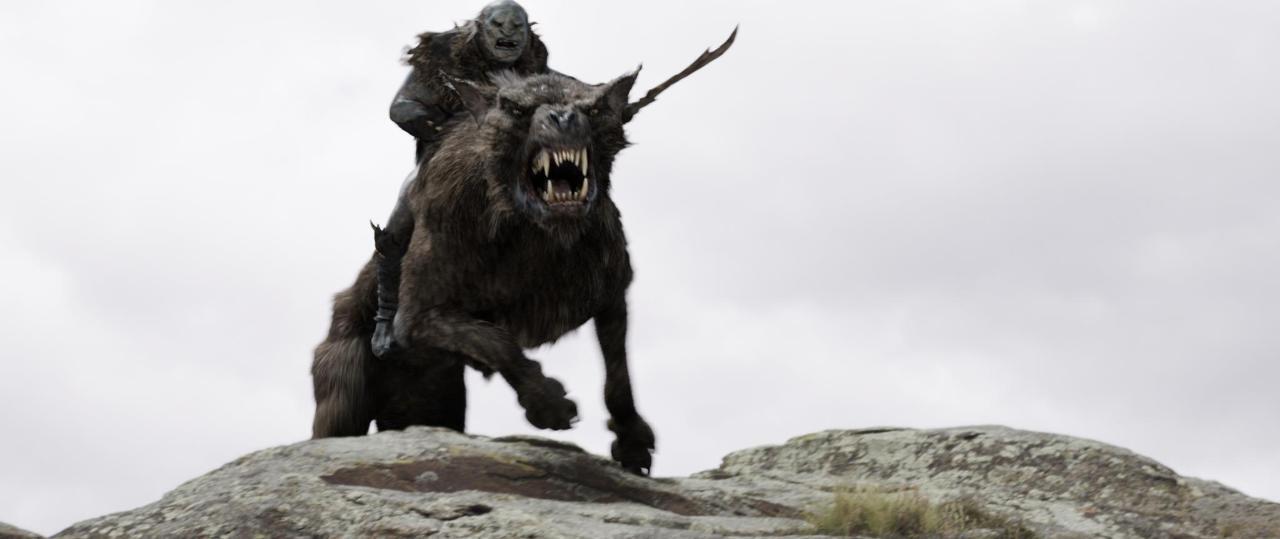 the hobbit the warg giant wolf hyenas 2 the hobbitOrc Leader Hobbit