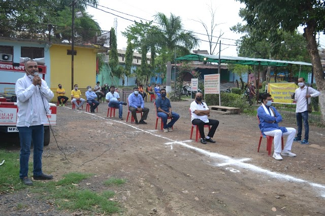Today latest Vidisha news : कोरोना की अशांति दूर करने फाउंडेशन सदस्यों ने किया शिक्षा प्रद मनोरंजन कार्यक्रम!!