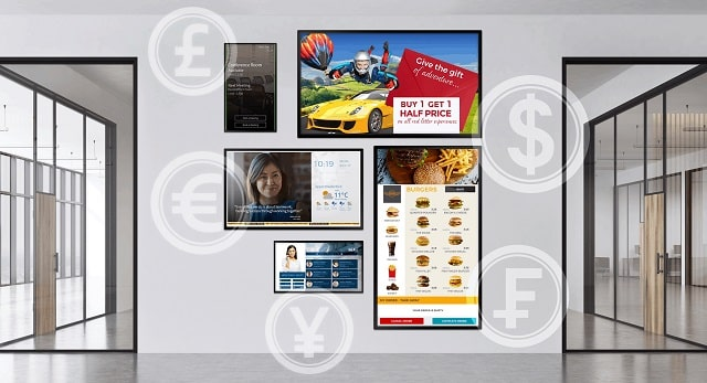 why advertise business on digital signage graphics animation