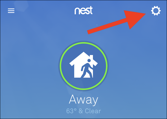 حدد رمز الترس في الزاوية العلوية اليمنى من التطبيق