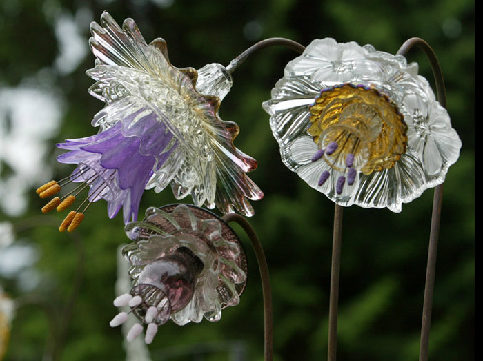 incredible glass flowers designed and constructed using antique glass vases cups saucers by mike urban very talented friends i knew from seattle pi - Glass Flowers