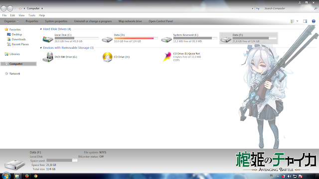 Tema Hitsugi no Chaika: Chaika Trabant Windows 7