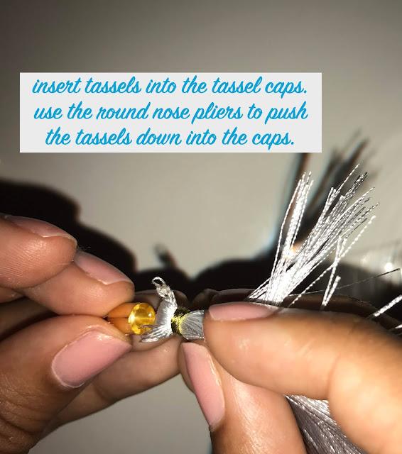 DIY Gem Tassel Earrings Steps