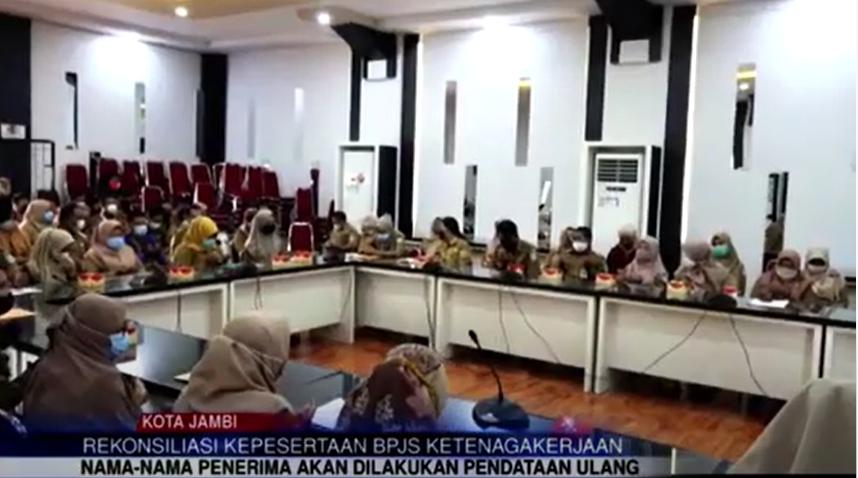 Wawako Maulana Buka Rapat Rekonsiliasi Kepesertaan BPJS Ketenagakerjaan Kota Jambi
