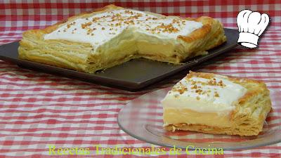 Receta fácil de tarta de crema y nata (Tarta Regina)