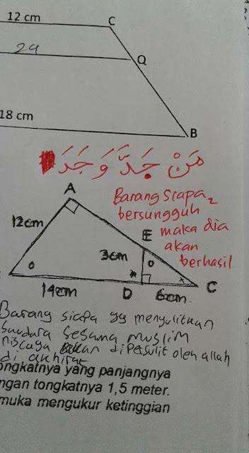 Ngeles Soal Matematika, Inilah Jawaban Cerdas Seorang Guru