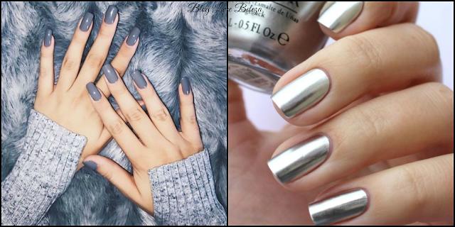 Esmalte cinza e metalizado