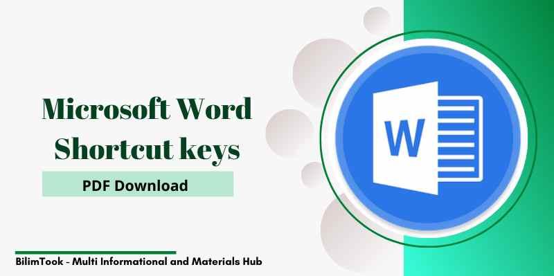 Microsoft Word Shortcut keys - PDF Download