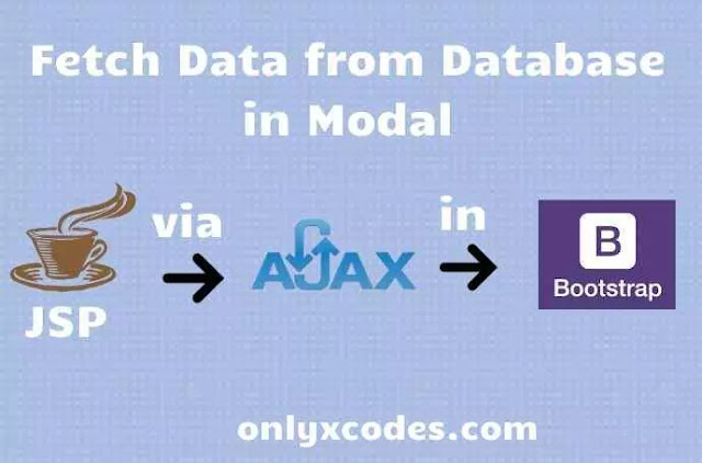 How to Fetch Data from Database in Modal