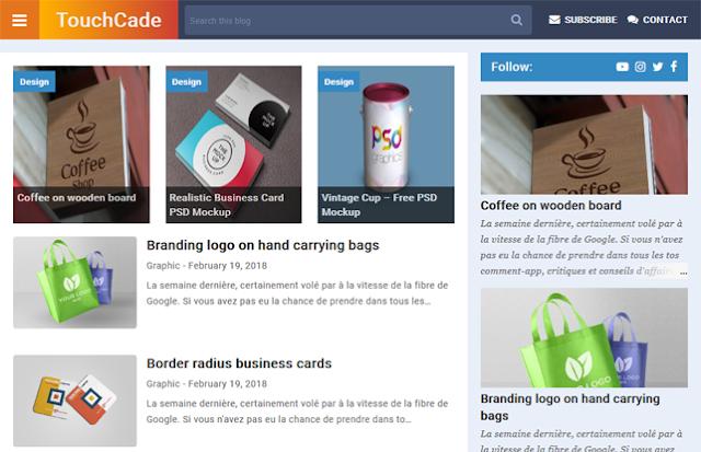 TouchCade Responsive Premium Blogger Template Free Download