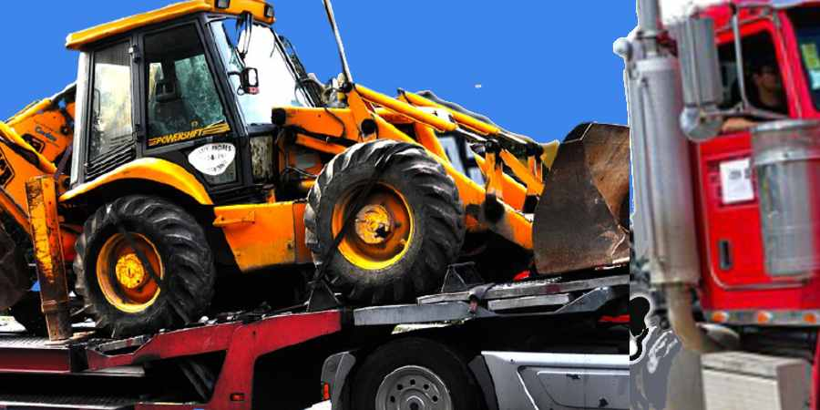 Safety Toolbox Talk Meeting Topic: Heavy Equipment Loading on trailer