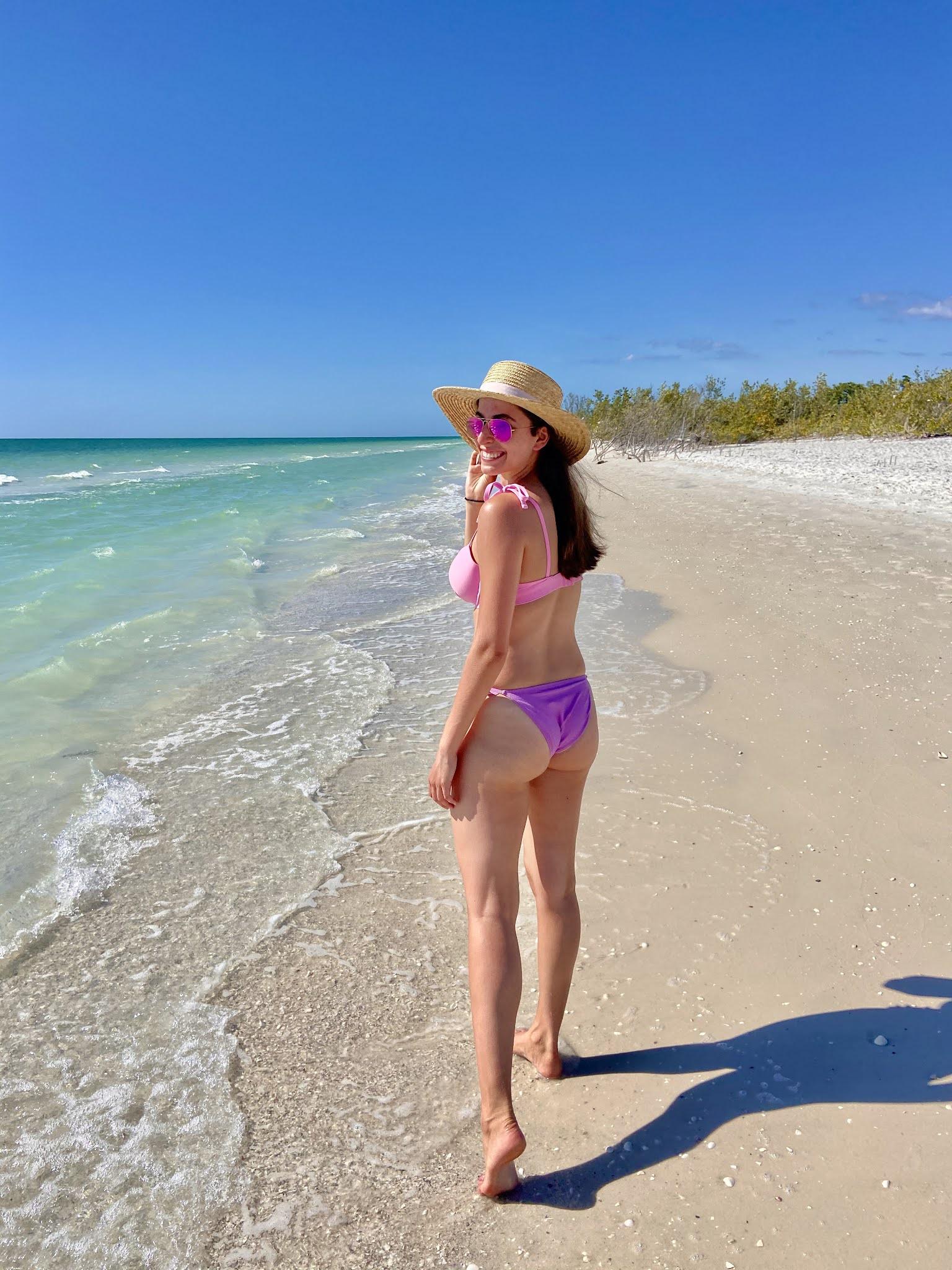 marco island, florida, bikini, bathing suit, vacation, beach style, beach vacation