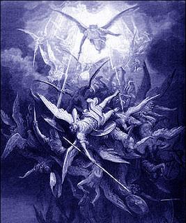 Fête de l`Exaltation de la Sainte-Croix  - 14 septembre 2019 - ( Images et Musique) - tableau Poétique  Gustave-Dore-fall-of-the-rebel-angels-from-Book-of-Paradise-Lost