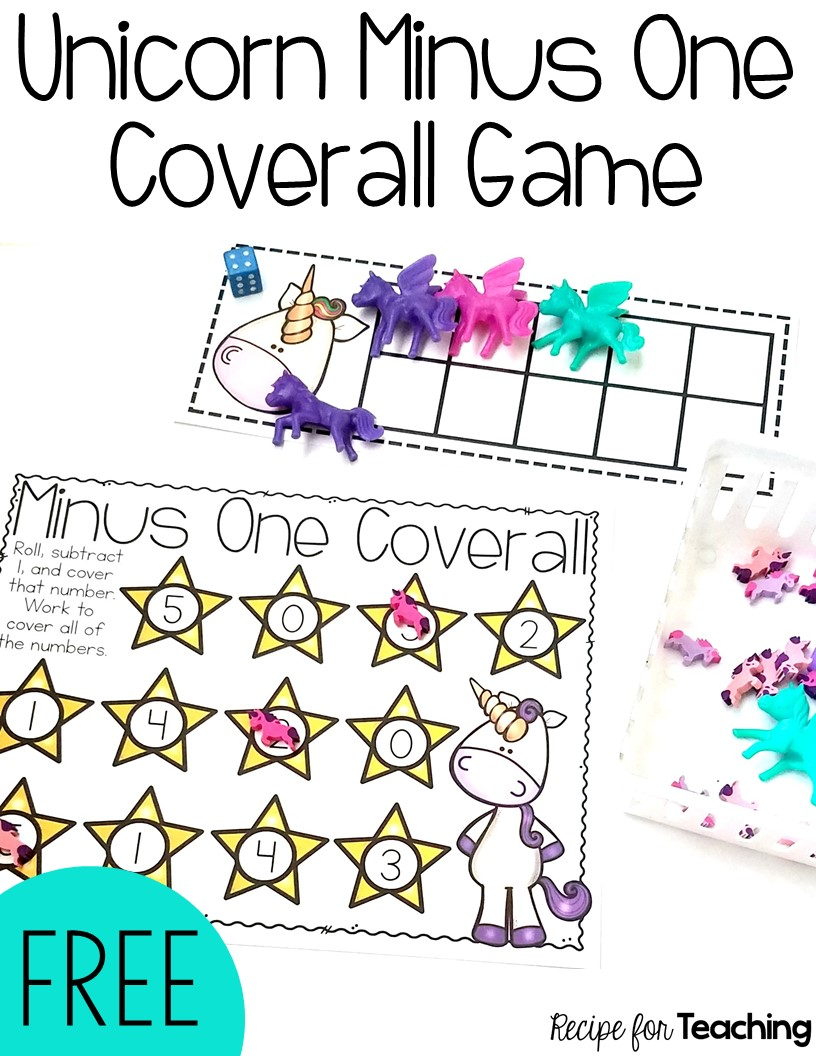 Unicorn Minus One Coverall Game - Recipe for Teaching