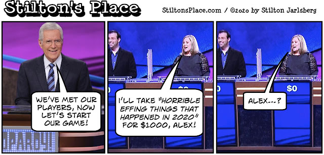 stilton's place, stilton, political, humor, conservative, cartoons, jokes, hope n' change, alex trebek, jeopardy
