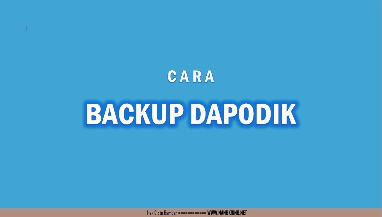 Cara backup dapodik: Batch File merupakan file script yang berbasis DOS (CMD) berupa baris interpreter, sehingga baris perintahnya dapat dibaca dengan notepad. Sengaja saya share menggunakan batch file dalam membackup atau merestore Dapodik biar dapat dipelajari dan dimodifikasi oleh rekan-rekan operator.