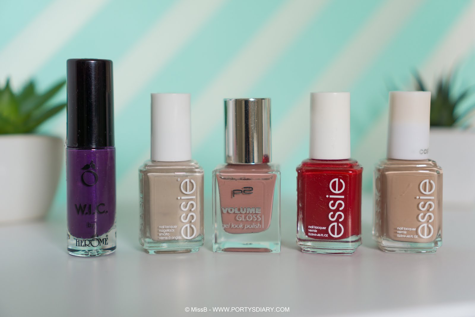 Herôme - Lisbon, Essie - Sand Tropez, P2 - Cute Girl Essie - a list, Essie - all eyes on nudes