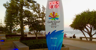 Commonwealth Games Surfboard Clock