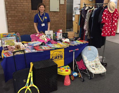 Cats Protection charity stall
