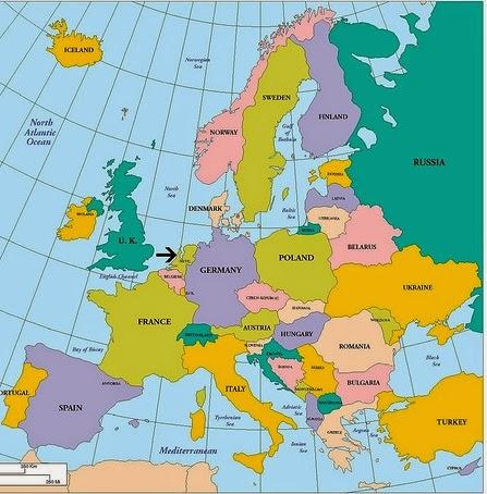 Hollanda Avrupa Haritası