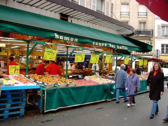 Feira Rue de Buci em Paris