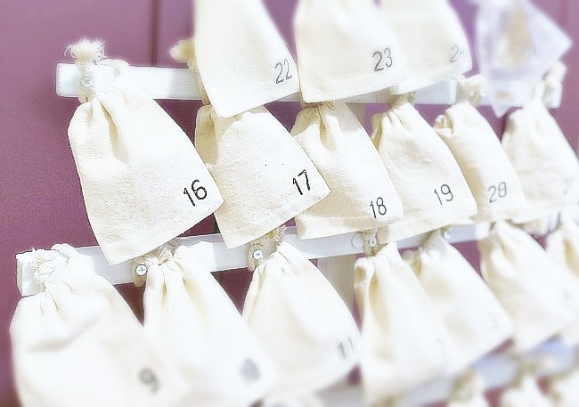 Advent Calendar Idea with Muslin Bags