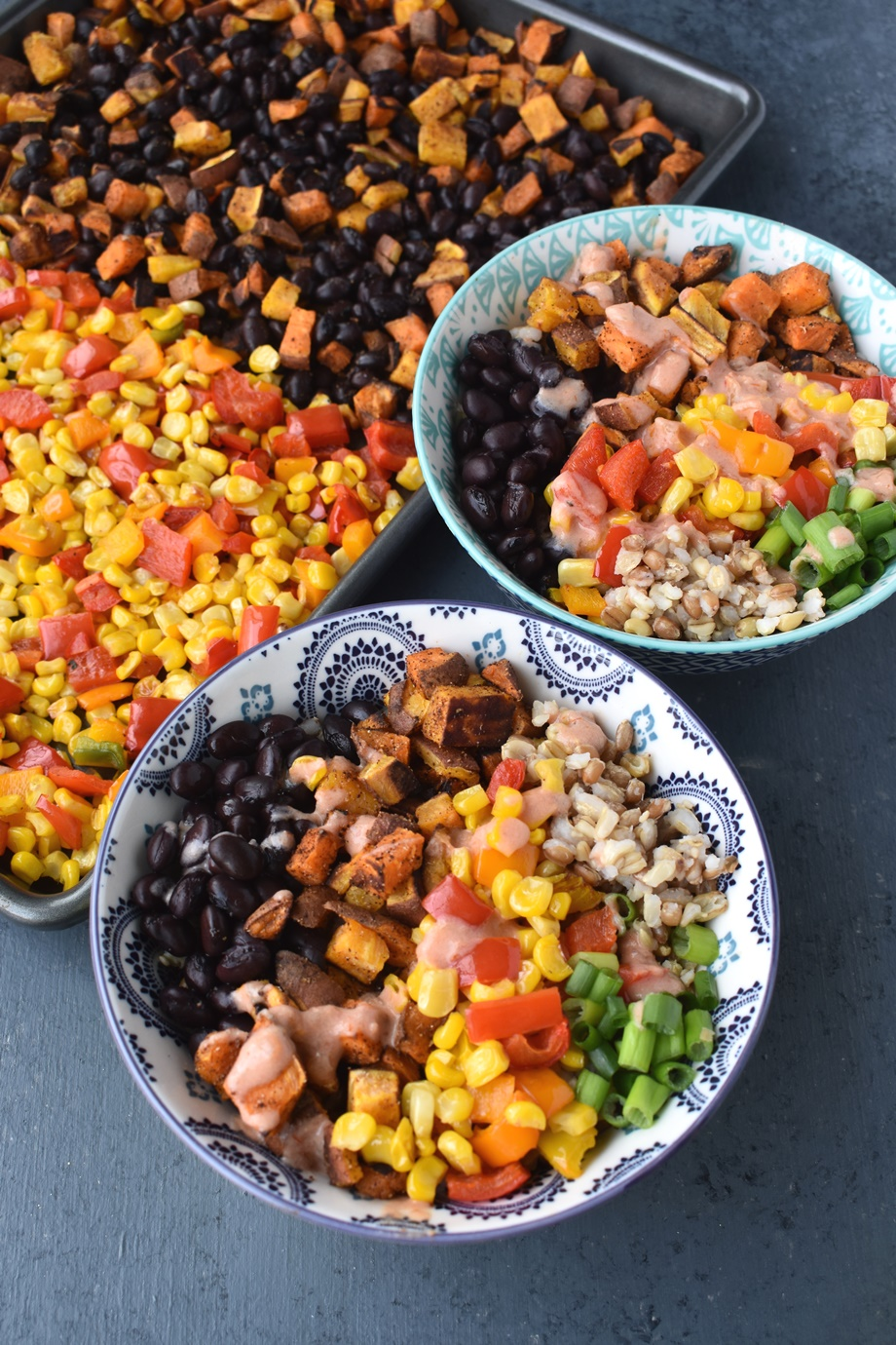 Sweet Potato and Black Bean Rice Bowls