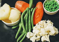 French beans carrot potato cauliflower green peas for veg burger patty recipe