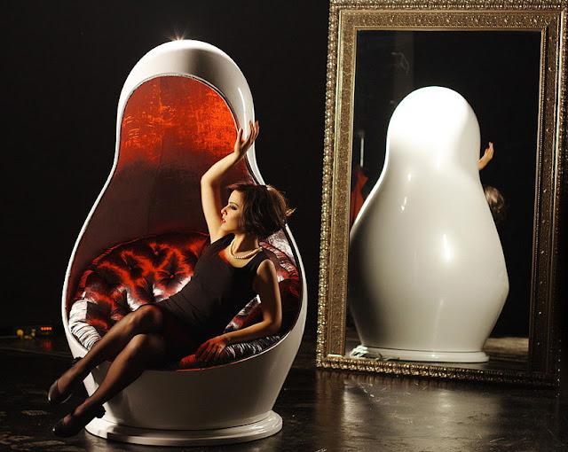 Matreshka Russian Nesting Doll Light Changing Chair