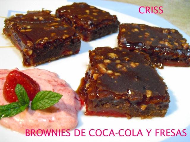 Receta de brownie de coca cola y fresas