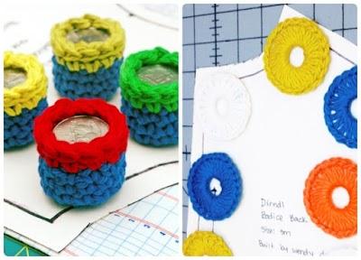 Cómo hacer pesas de crochet para sujetar patrones