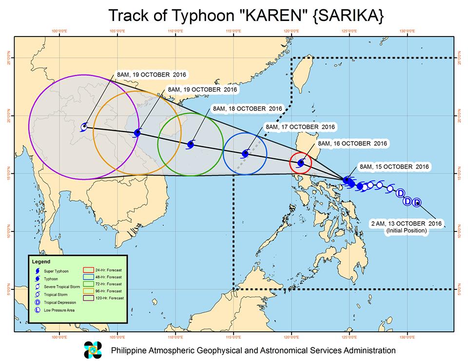 Typhoon Karen track