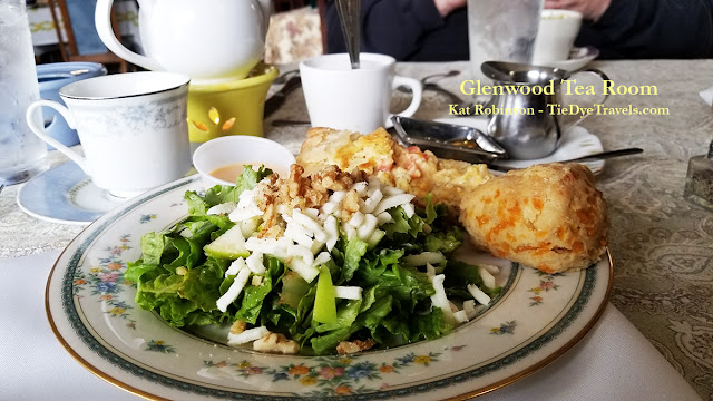 Quiche plate with salad and scone at Glenwood Tea Room in Shreveport