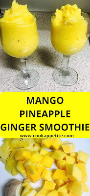 Fresh mango, Pineapple and ginger blend together to give this smoothie a perfect smoothie twist. A great Smoothie Recipe for all vegan lovers