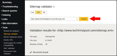 how to add blog sitemap to yandex webmaster tool