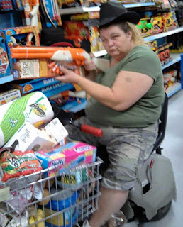 Meanwhile at Walmart NRA member rides again